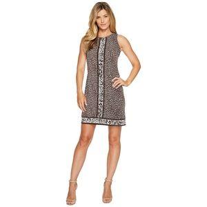 Michael Kors Cheetah Sleeveless Border Dress